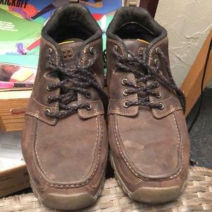 Great condition leather Timberland boots, light